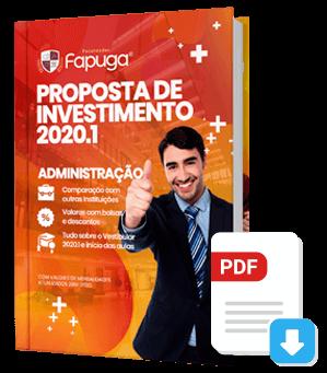 Proposta de Investimento 2020.1 do Curso de Administração Presencial