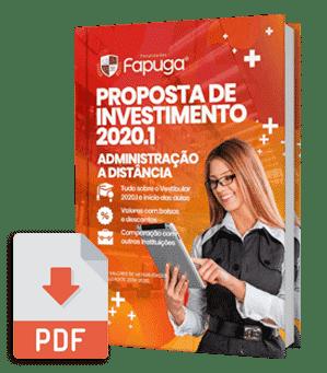 Proposta de Investimento 2020.1 do Curso de Administração EAD